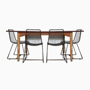 Large Vintage Industrial Rustic Refectory Dining Table