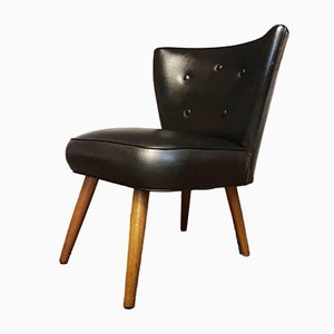 Mid-Century Black Cocktail Chair