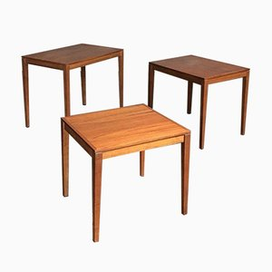 Mid-Century Danish Teak Nesting Tables from Bent Silberg Mobler, Set of 3
