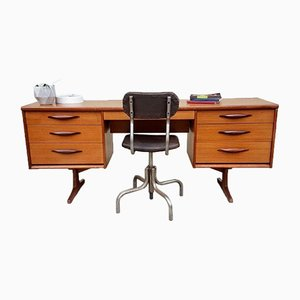 Mid-Century Danish Austinsuite Knee Hole Desk