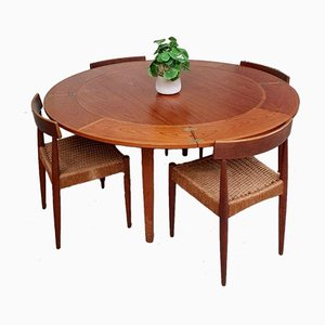 Mid-Century Danish Teak Lotus Extendable Dining Table by Dyrlund