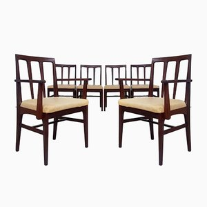 Mid-Century Teak Afromosia Dining Chairs by Younger, Set of 6