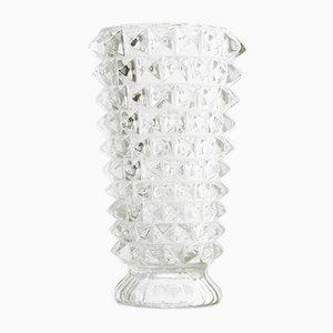 Vintage Italian Rostrato Glass Vase, 1930s