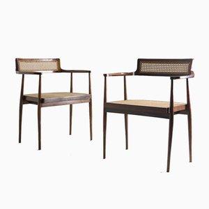 Mid-Century Modern Brazilian Armchairs by Joaquim Tenreiro, 1960s, Set of 2