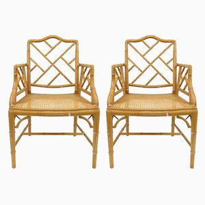 Faux Bamboo Armchairs, 1970s, Set of 2