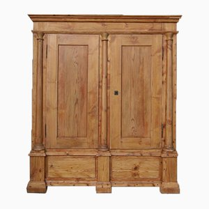 Antique Softwood Column Cabinet, 1800s