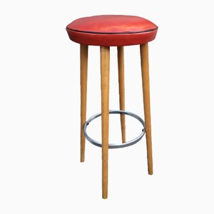 Vintage Bar Stools, 1950s, Set of 3