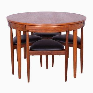 Mid-Century Teak Dining Table & 4 Chairs Set by Hans Olsen for Frem R