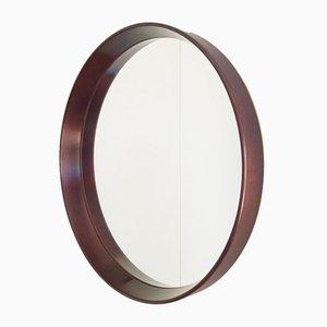 Vintage Scandinavian Round Teak Mirror, 1961