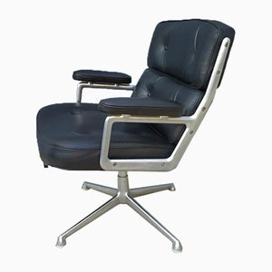 Leather Lobby Desk Chair by Charles & Ray Eames for Herman Miller, 1960s