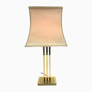 Vintage Brass Table Lamp by Willy Rizzo for Deknudt, 1970s