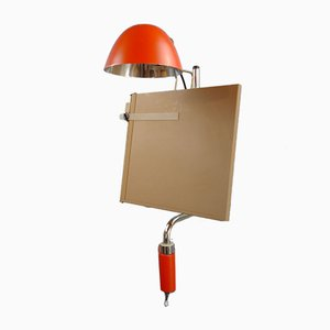Mid-Century Swedish Architect Lamp with Tablet from Falkenbergs Belysning