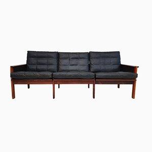 Danish Rosewood 3-Seat Sofa by Illum Wikkels