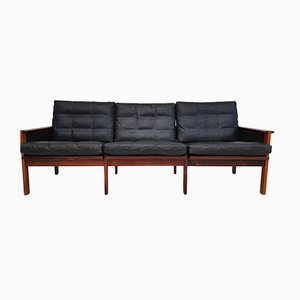 Danish Rosewood 3-Seat Sofa by Illum Wikkelsø for Niels Eilersen, 1970s