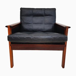 Danish Rosewood Armchair by Illum Wikkelsø for Niels Eilersen, 1970s