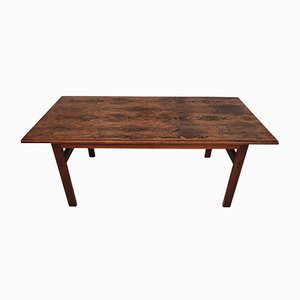 Danish Rosewood Capella Series Coffee Table by Illum Wikkelsø for Niels Eilersen, 1970s