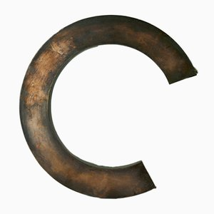 Brass Letter C Sign, 1970s