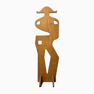 Shaped Wooden Coat Rack, 1960s