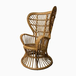 Wicker Armchair by Lio Carminati for Casa e Giardino, 1960s