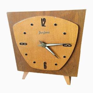 Mid-Century Uhr aus Holz von Junghans, 1950er