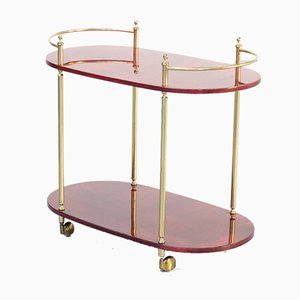 Goatskin Trolley by Aldo Tura for Tura Milano, 1960s