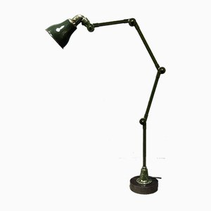 English Dark Green 4-Light Invisaflex Machine Floor Lamp, 1940s