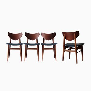 Mid-Century Modern Dining Chairs, 1950s, Set of 4