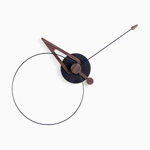 Horloge Pico en Noyer et Noir de Nomon