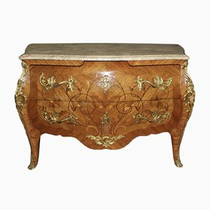 Louis XV Style Inlaid Rosewood Commode, 1940s