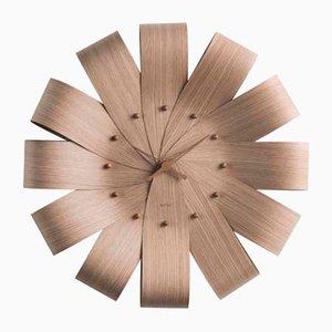 Ciclo Oak Wall Clock by Andrés Martínez for Nomon