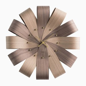 Ciclo Mixto & Brass Wall Clock by Andrés Martínez for Nomon