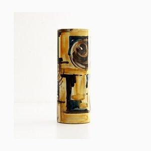 Enamel Ceramic Vase by Giuseppe Barile for Giuseppe Barile Albisola, 1950s