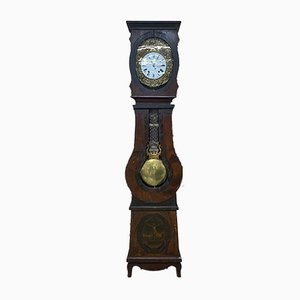 Antique Grandfather Clock with Religious Decoration