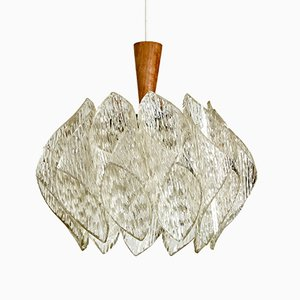 Vintage Textured Shades Pendant Lamp, 1970s