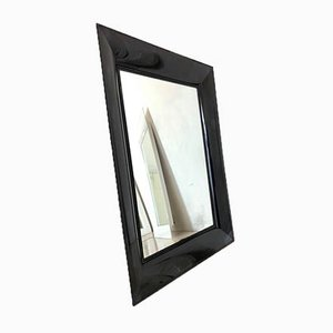 Black PVC Rectangular Mirror from Kartell, 1990s