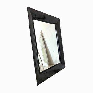 Miroir Rectangulaire Noir en PVC de Kartell, 1990s