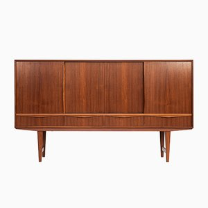 Danish Teak Highboard by E. W. Bach for Sejling Skabe, 1960s