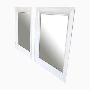 Specchio rettangolare in PVC bianco di Kartell, anni '90