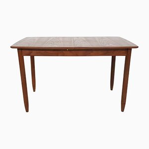 Mid-Century Dutch Teak Extendable Dining Table, 1950s