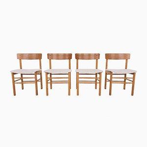 Dänische Eichenholz Esszimmerstühle im Stil von Børge Mogensen, 1960er, 4er Set