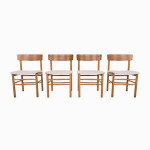 Danish Oak Dining Chairs in the Style of Børge Mogensen, 1960s, Set of 4