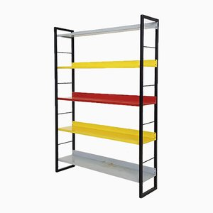Dutch Metal Freestanding Bookshelf by D. Dekker for Tomado, 1960s