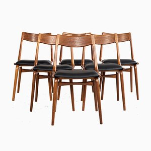 Boomerang Dining Chairs by Alfred Christensen for Slagelse Møbelværk, 1960s, Set of 6