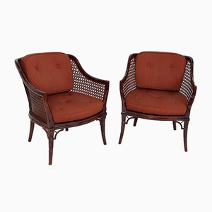Vintage Danish Salon Chairs, Set of 2