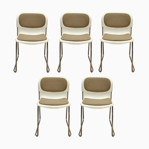 Stackable Swing Dining Chairs by Gerd Lange for Drabert, 1980s, Set of 5