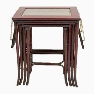 Tables Gigognes Antiques par Michael Thonet pour Thonet
