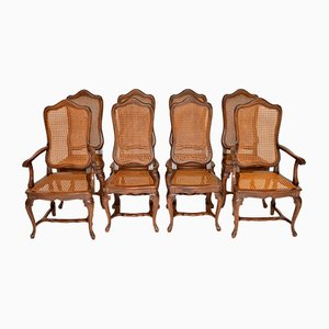 Antique French Provincial Dining Chairs, Set of 8
