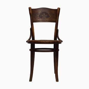 Antique Art Nouveau Bistro Dining Chair by Michael Thonet for Gebr