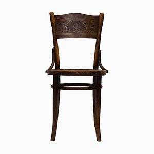 Antique Art Nouveau Bistro Dining Chair by Michael Thonet for Gebrüder Thonet Vienna GmbH