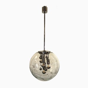 Mid-Century Big Ball Ceiling Lamp from Doria